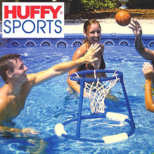 Huffy Sports 54027 Floating Basketball Hoop For Swimming Pools Heavy Duty Pvc Frame 22 5 In