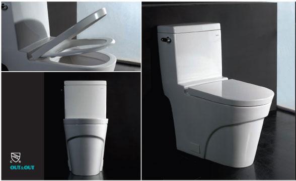 Ariel Platinum AP326 The Oceanus Contemporary European Toilet Seat Included