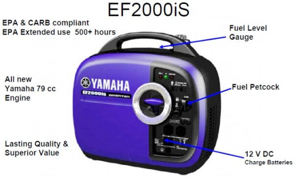 Image result for YAMAHA GENERATOR EF2000S