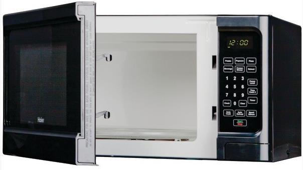 haier herhz1120bebb countertop microwave black 1 1 cubic. Black Bedroom Furniture Sets. Home Design Ideas
