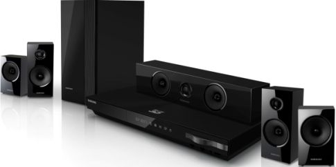 Buy Samsung Digital Media Receivers - Samsung HT-E5500W Home theater system with iPhone / iPod cradle, Speaker system, Blu-ray disc player / AV receiver Components, Surround Sound Sound Output Mode, Dolby Pro Logic II, DTS 96/24, Dolby Digital, DTS decoder, Dolby Digital Plus, DTS-HD decoder, Dolby TrueHD Built-in Decoders, Blu-ray, Network Media Content Source, DVD+RW, DVD+R, DVD-R, DVD-RW, CD-RW, CD-R, CD-DA Media Type, UPC 036725617810 (HTE5500W HT-E5500W HT E5500W)