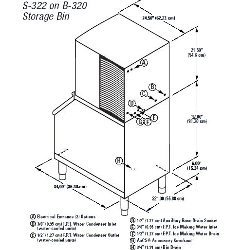 Manitowoc SD-0322A Modular Ice Machine - Series S-322 - AC ... on ice maker wiring diagrams, copeland wiring diagrams, manitowoc ice machines filters cg-5 20s, manitowoc q450, ice box wiring diagrams, walk in cooler wiring diagrams, compressor wiring diagrams, hoshizaki wiring diagrams, pepsi machine wiring diagrams,