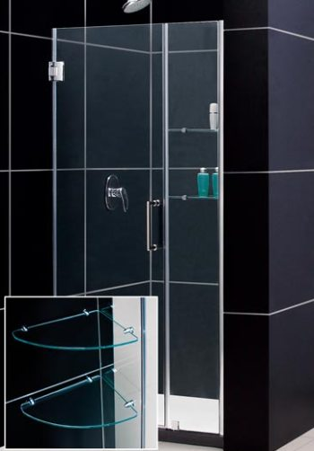 Dreamline shdr 20607210s 04 unidoor frameless adjustable for Solid glass shower doors