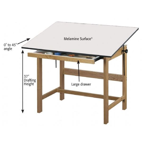 Alvin WTB48 Titan Wooden Drafting Table, The 4-post Alvin Titan ...